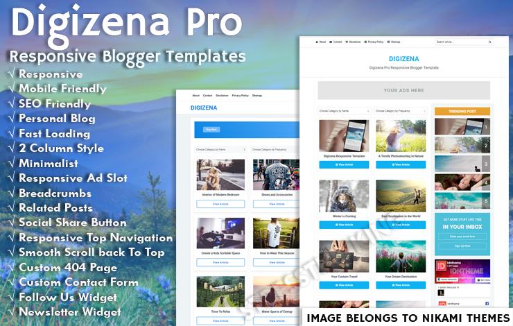 Digizena Pro Responsive Blogger Template