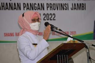 Pj Gubernur Jambi Secara Resmi Membuka Forum OPD Ketahanan Pangan Se-provinsi Jambi.
