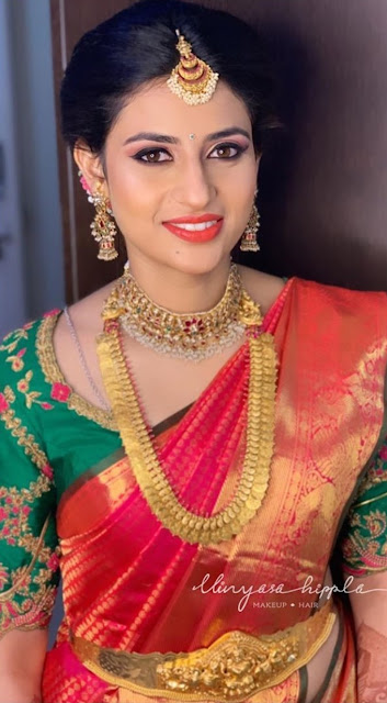Pretty Brides in Kasuharam Kundan Choker