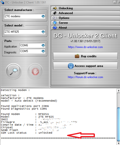 Zte mf825a cara unlock