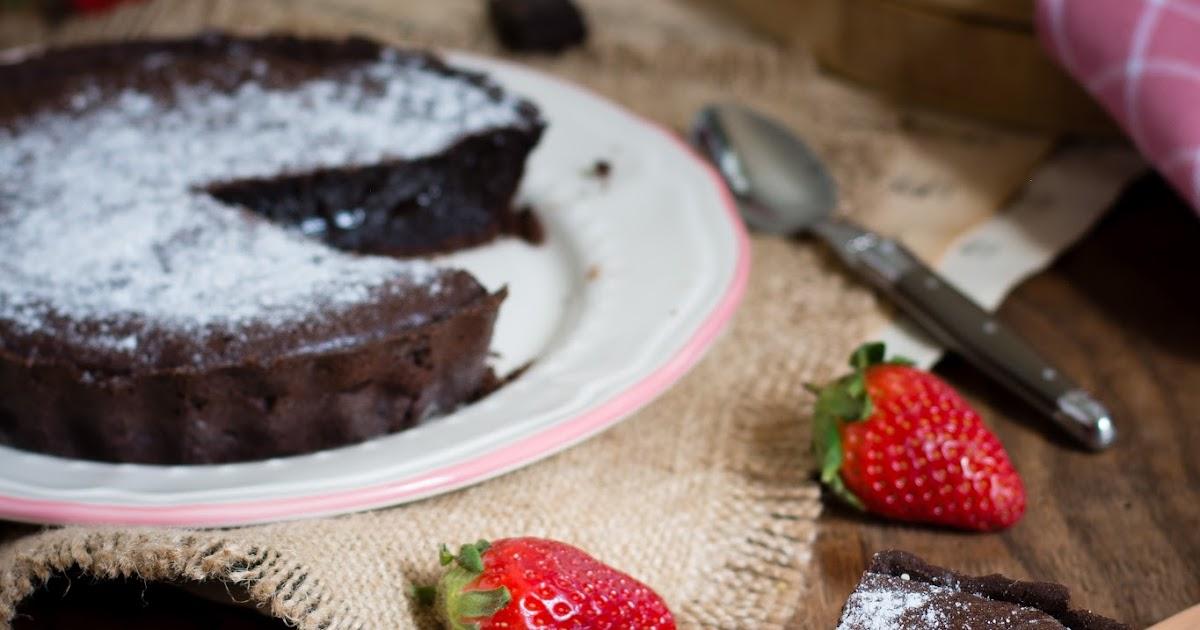 Chic chic chocolat tarte fondante au chocolat - Comment decorer une tarte au chocolat ...