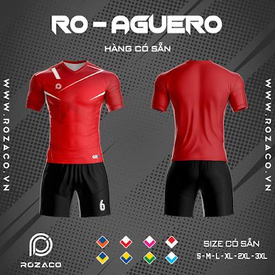 Áo Không Logo Rozaco RO-AGUERO Màu Đỏ