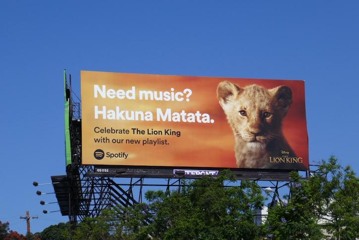 Lion King Hakuna Matata Spotify billboard