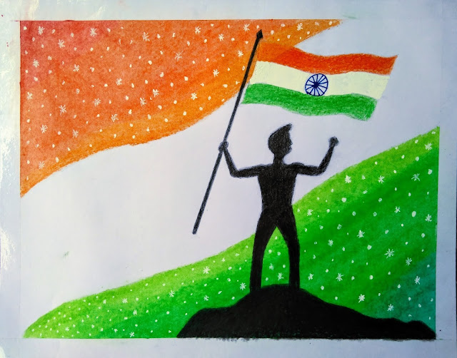 Drawing about independence day