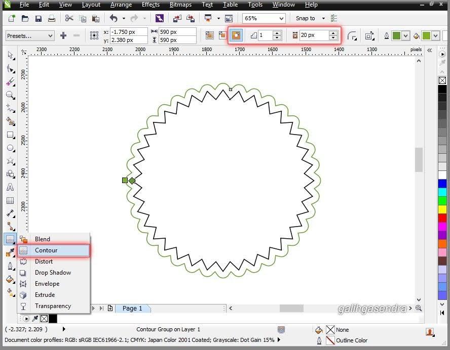 Coreldraw Tutorial Create A Logo On A Blurred Background Galih Gasendra