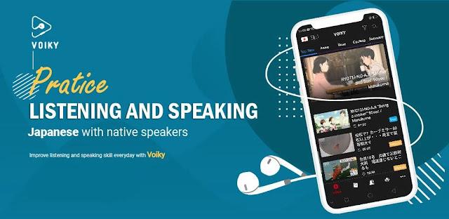 تنزيل Listening Japanese, Chinese and English: Voiky - برنامج تعلم اللغة الإنجليزية واليابانية لنظام الاندرويد