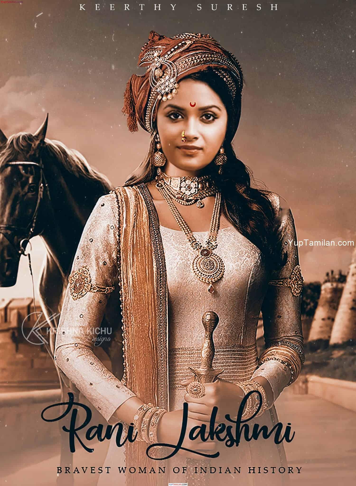 Keerthi Suresh Hot Pics as Rani Laxmi Bai