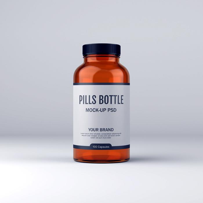 Pill Bottle Medicine Free Psd Mockup