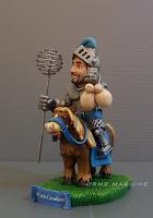 statuetta personalizzata casaro cacio cavallo modellino divertente di una persona orme magiche