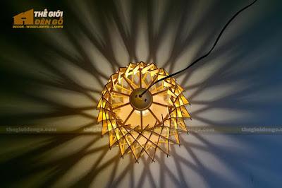 Thế Giới Đèn Gỗ - Đèn gỗ trang trí dg212-4