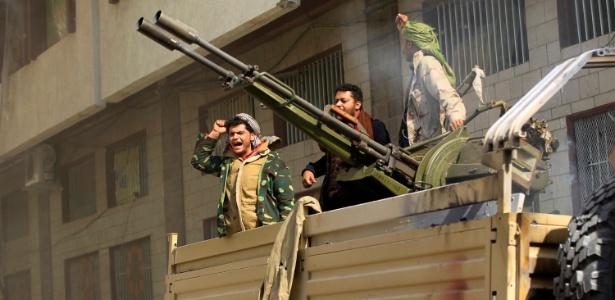 Rebeldes huthis no Iêmen