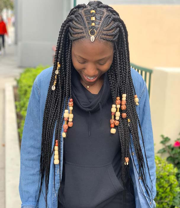 2020 Best Ponytails Braids With Beads For Natural Hair