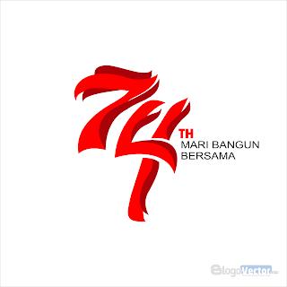 HUT RI 74 Mari Bangun BERSAMA Logo vector (.cdr)