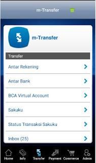 Cara Isi Ulang (TopUp) TCASH Melalui Mobile BCA