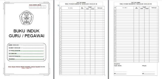 Download Gratis Aplikasi Buku Induk Pegawai atau Guru Format Word