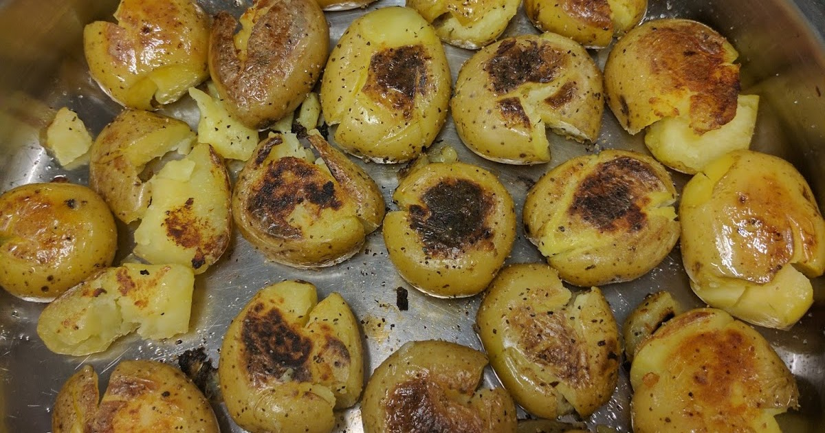 Smashed Potatoes with Dill Sauce