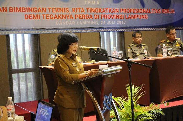 Satpol PP Provinsi dan Kabupaten/Kota mengikuti Bimtek Penegakkan Peraturan Daerah