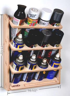Organizador para tinta spray, desingripante