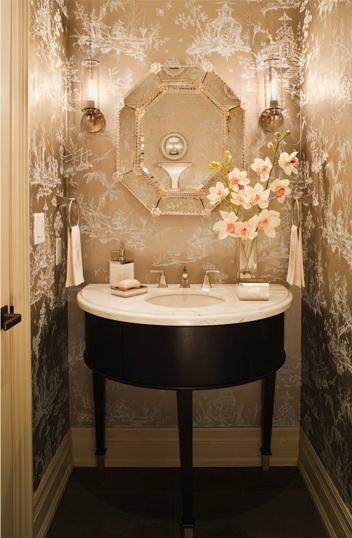 glamorous bathroom ideas   La Dolce Vita: Glamorous Powder Rooms