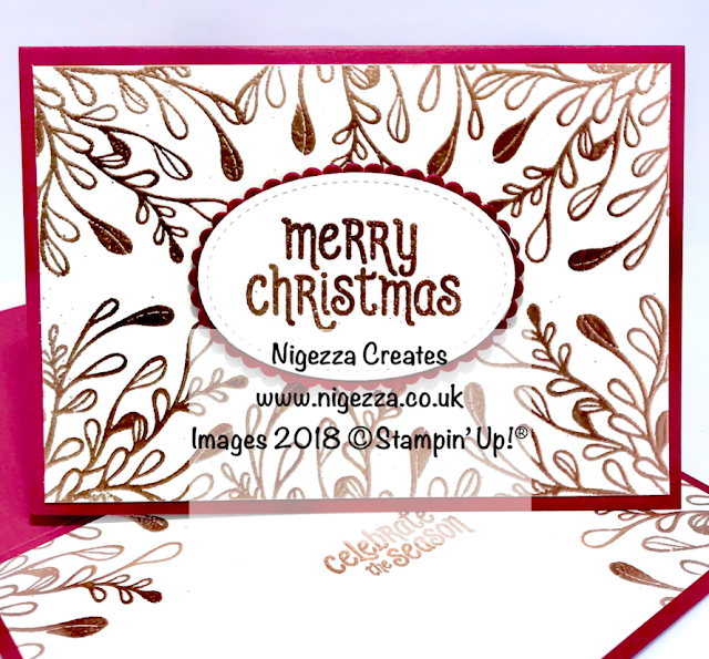 Copper Embossed Christmas Card Using Mistletoe Season Nigezza Creates