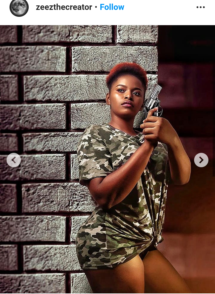 Picture of a model holding a gun