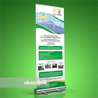 Desain Roll Banner Untuk Unversitas Indonesia & Gaido Group