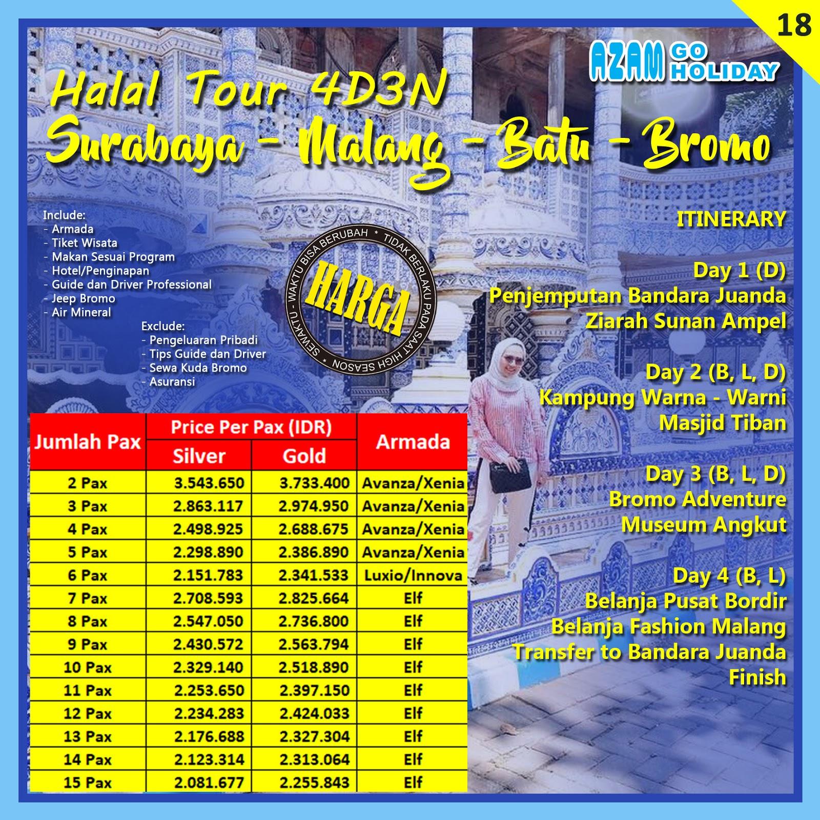 Paket Tour Suramadu Bromo Malang Batu Azam Trans