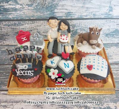 Cupcake Anniversary ke 20 Tahun