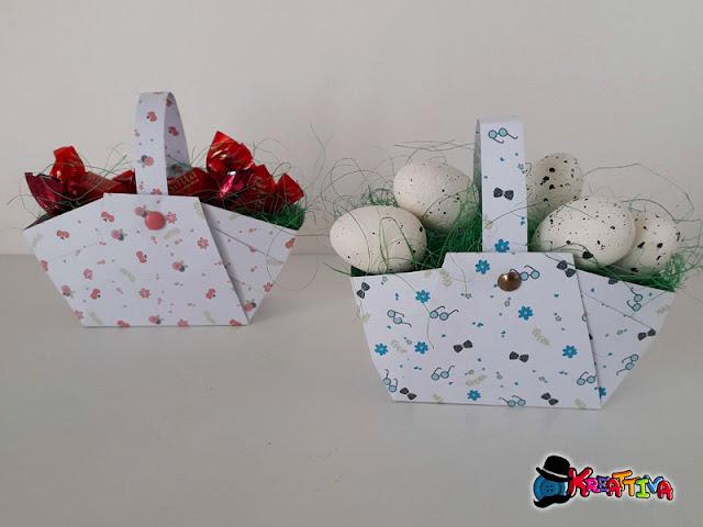 Cestini di carta fai da te per Pasqua