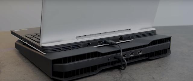 Đế tản nhiệt được lắp thêm cho laptop