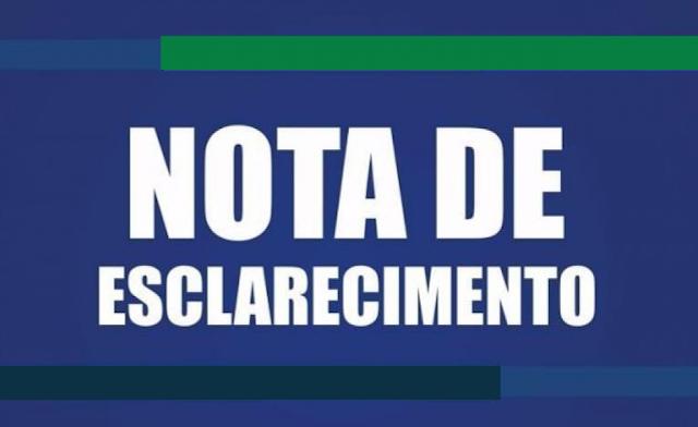 NOTA DE ESCLARECIMENTO DA PREFEITURA DE GOIANA
