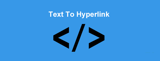 TextToHyperlink