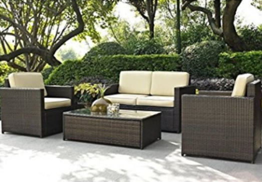 Pemberly Row 4 Piece Outdoor Wicker Couch Set, Choosing Outdoor Couch Tips, Outdoor Couch, Outdoor Furniture, Outdoor Space, Outdoor Couch Buying Tips, Outdoor Couch Sets,