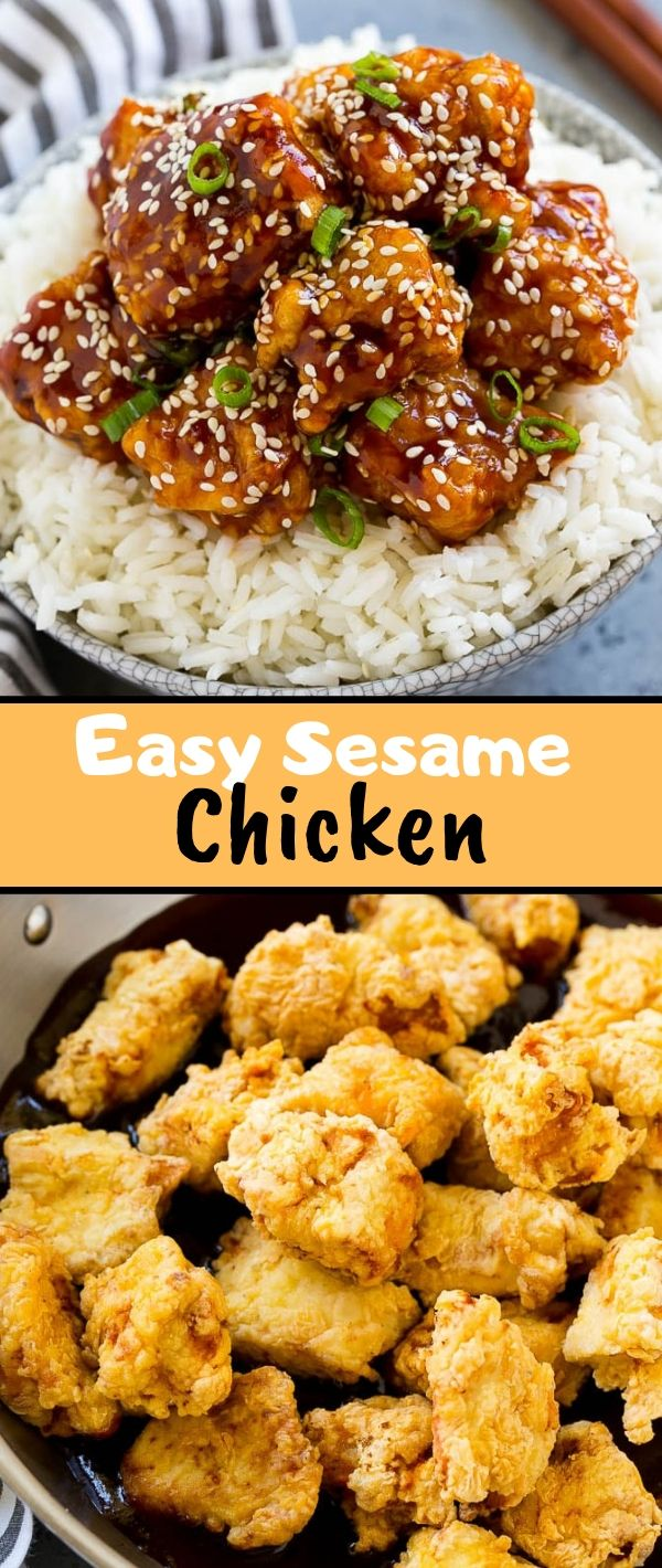 Easy Sesame Chicken #Easy #Sesame #Chicken Chicken Recipes Healthy, Chicken Recipes Easy, Chicken Recipes Baked,