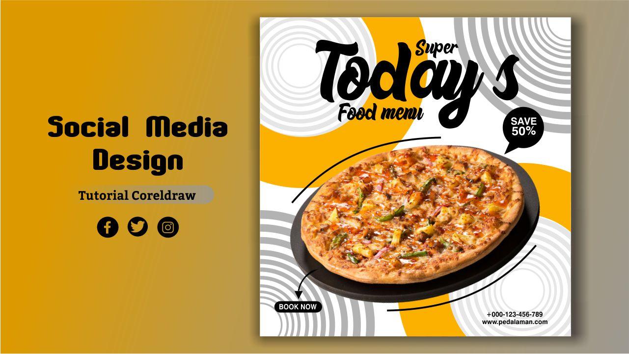 Membuat pizza flyer design