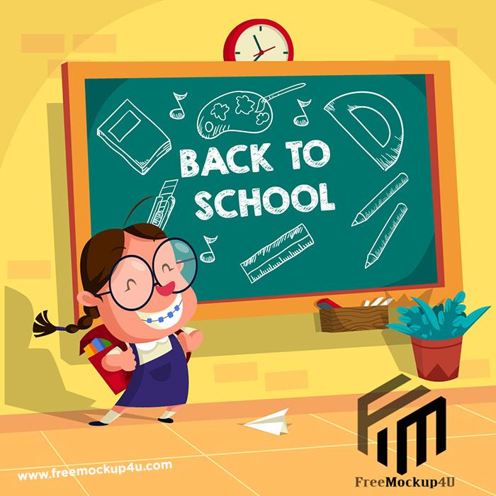Back To School Admission Social Media Post Design Templates EPS