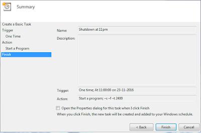 Menjadwalkan Shutdown / Mematikan Komputer menggunakan Task Scheduler