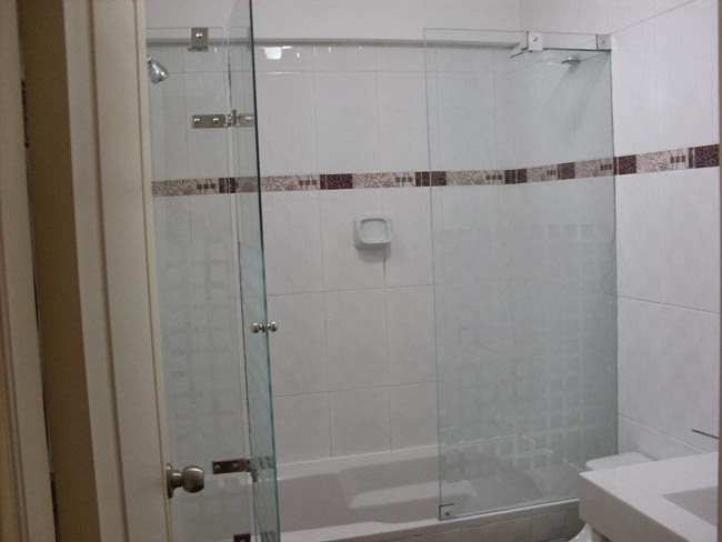 mamparas u ventanas en vidrio templado puertas corrediza para tina o duchas
