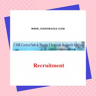 CSIR-CSMCRI Recruitment 2019 for Technical Assistant, Technician (10 Vacancies)