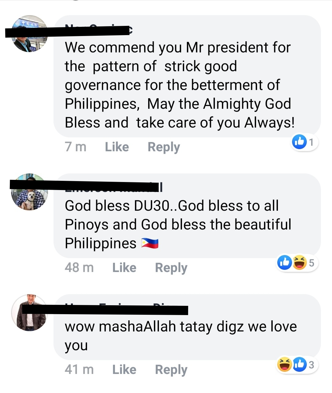 "Support for ""Tatay Digong"" on Facebook"