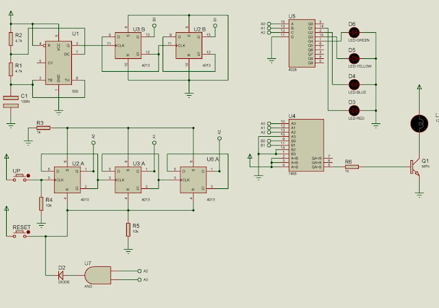Rangkaian Elektronika : Pengatur Terang Lampu LED (Dimmer) Dengan IC Digital