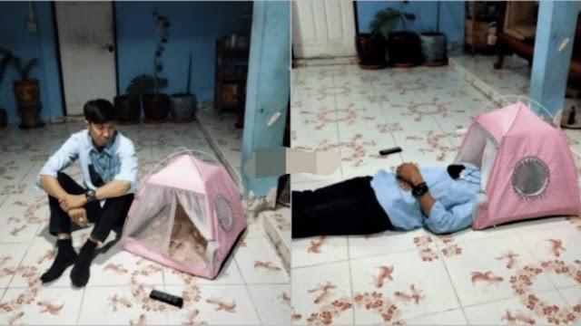 Lelaki Beli Khemah Masa Sale 11.11 Sekali Sampai Muat KepaIa Je