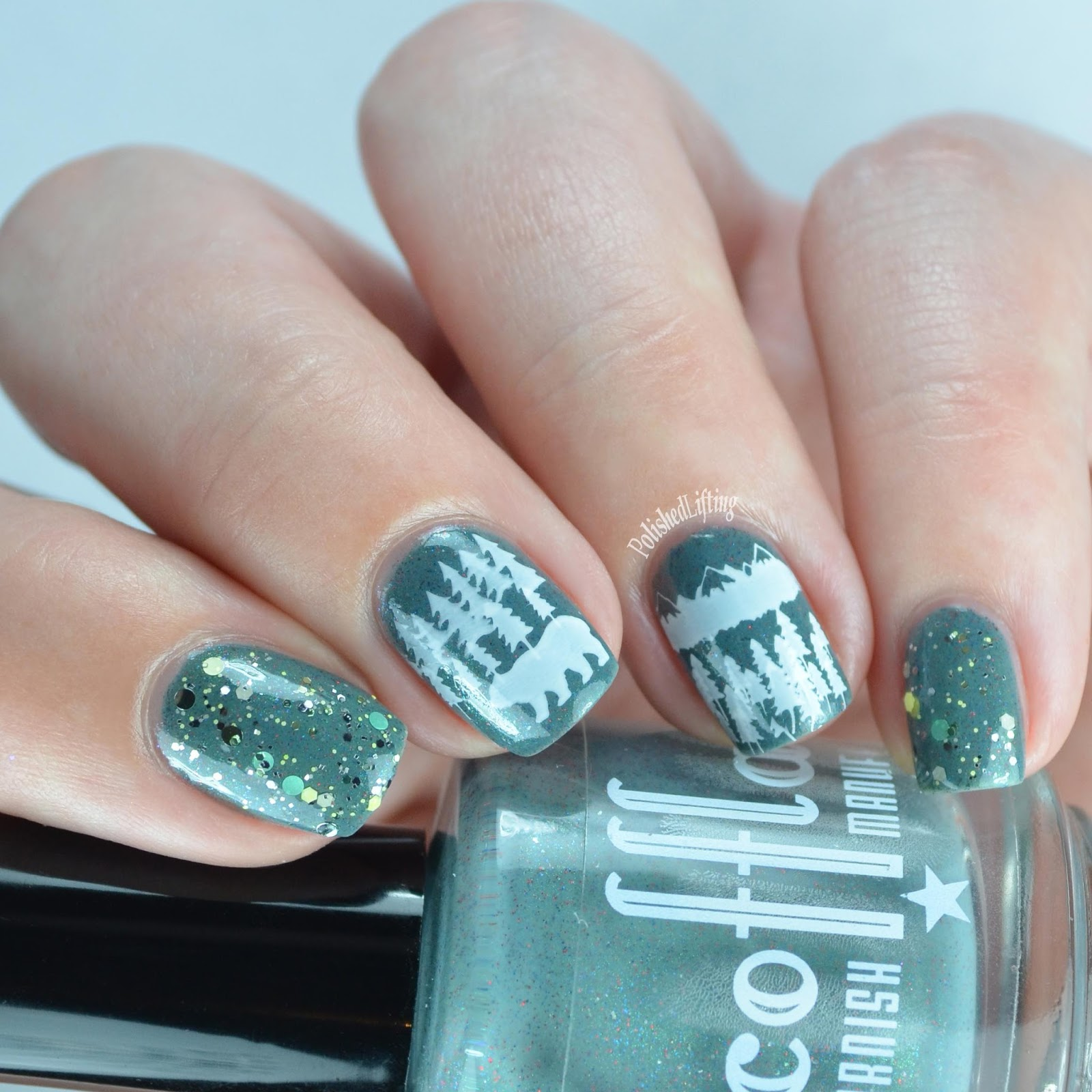 Nail Polish Marbling Letters | Hession Hairdressing