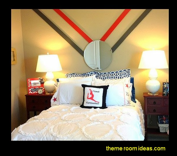 gymnastics  bedroom decorating ideas girls sports bedrooms Gymnastics decorations Gymnastics