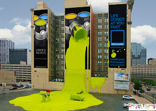 coops paint guerilla marketing advertising