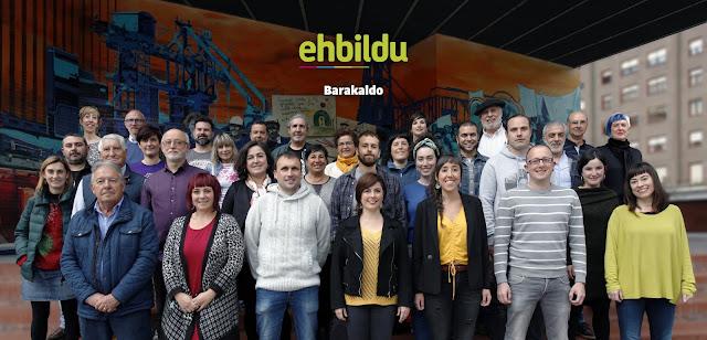 Fotomontaje con la candidatura difundido por EH Bildu