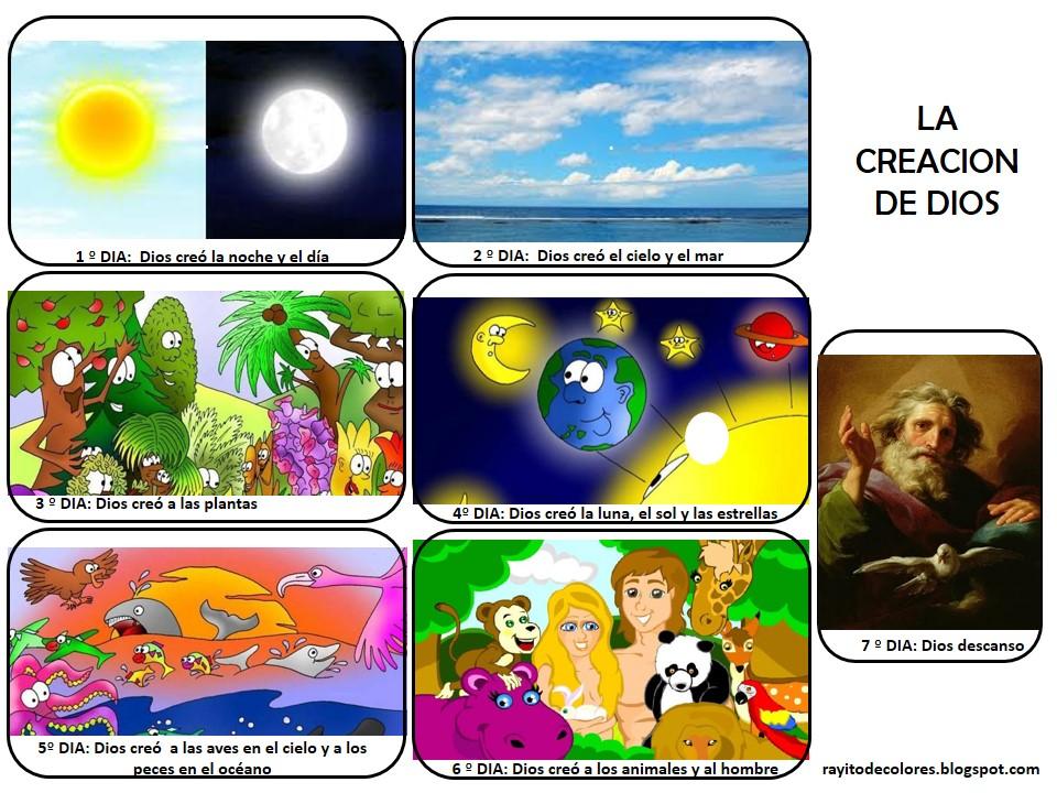 Compartiendo Por Amor Creación De Dios Para Niños