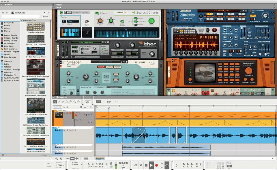 Propellerhead Reason Main Interface Screenshot
