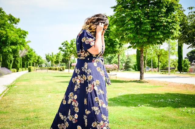 Maxi vestido azul de Shein
