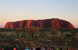Uluru - Ayers Rock at sunset